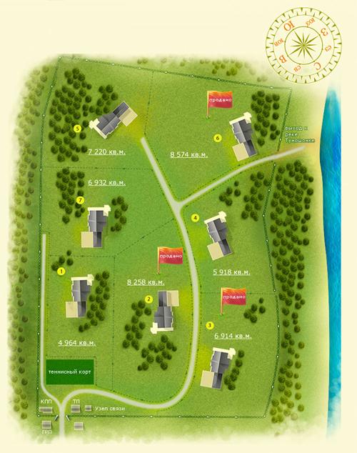 План посёлка